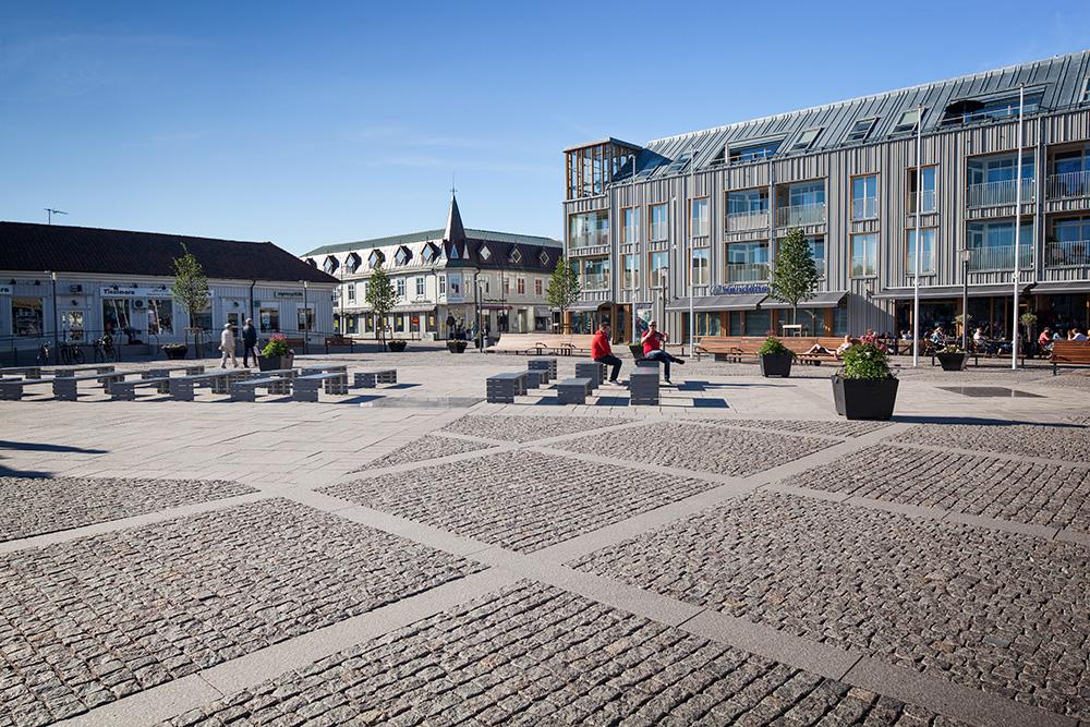 Gatsten/Hällar, SKARSTAD Röd Bohus, Råkilad/Flammad, Kungsbacka Torg, Hallindens Granit AB